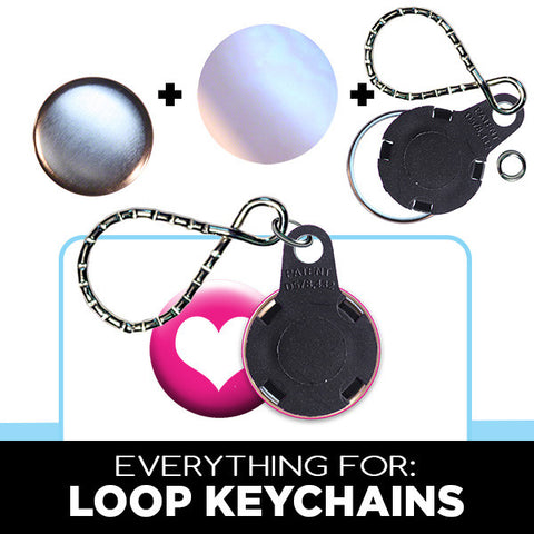 button supplies for loop keychains
