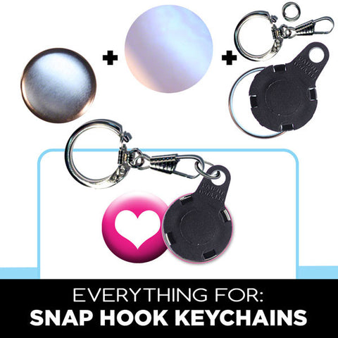 snap hook keychain parts for 1 inch button machines