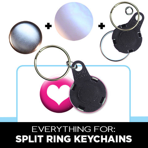 "1"" split ring keychain parts"