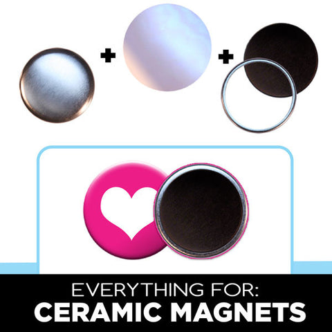 1.75 inch ceramic button magnets
