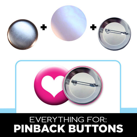 pinback buttons parts for 1.75 inch badge makers