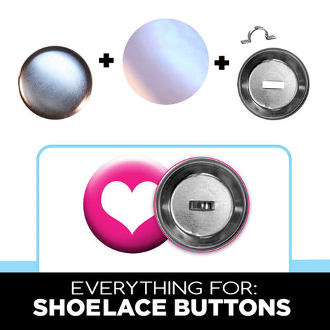 "1.75"" Everything to make Sneaker Buttons with Shoelace Clips from People Power Press"