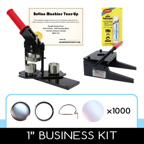 1 inch button maker, graphic paper punch cutter and 500 button parts