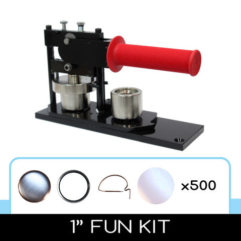 "1"" round button maker kit with parts"