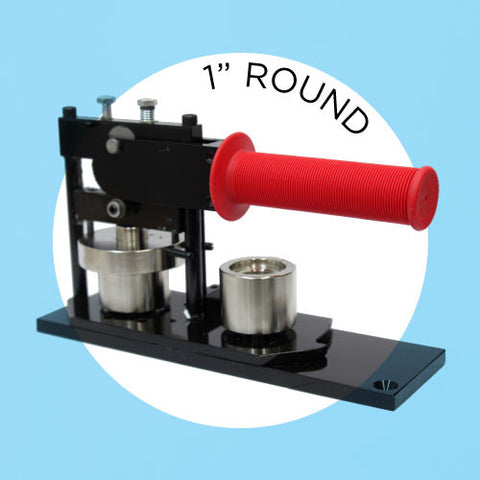 "1"" round button maker press"