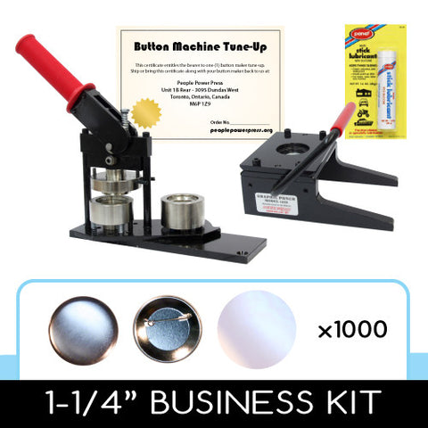 1-1/4 inch button maker, graphic paper punch cutter and 1000 button parts