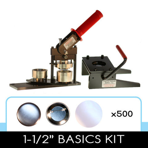 1-1/2 inch button maker, graphic paper punch cutter and 500 button parts