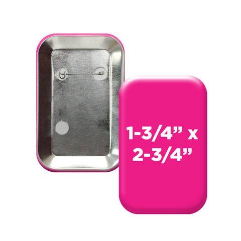 "Custom Vertical 1.75"" x 2.75"" Rounded Rectangle Buttons from People Power Press"