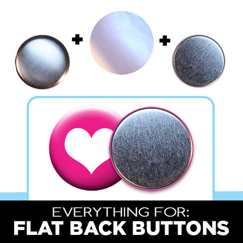 "2-1/4"" flat back buttons for game pieces and crafts"