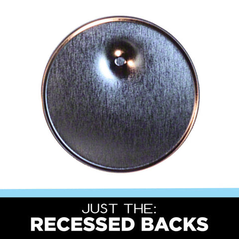 recessed backs for button making
