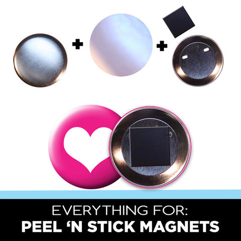 2.5 inch peel 'n stick magnet parts