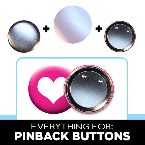 3 inch pinback button parts