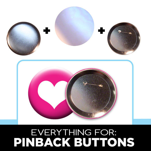 3.5 inch large pinback button parts