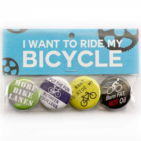 Bicycle Button Pack from People Power Press