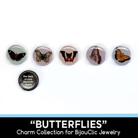 Butterflies 5 Charm Collection for BijouClic Jewelry
