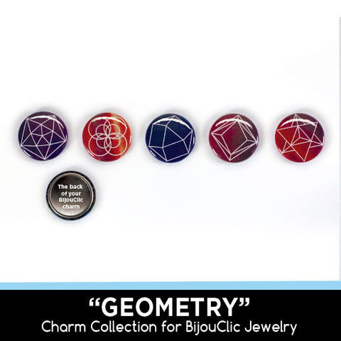 Geometry 5 Charm Collection for BijouClic Jewelry