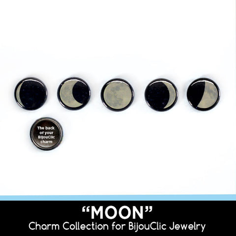 Moon 5 Charm Collection for BijouClic Jewelry