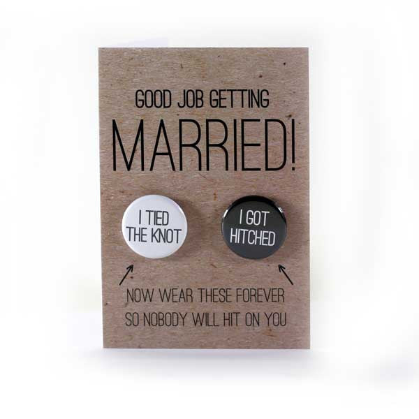 Good Job You Tied the Know Non-Gendered Wedding Cards