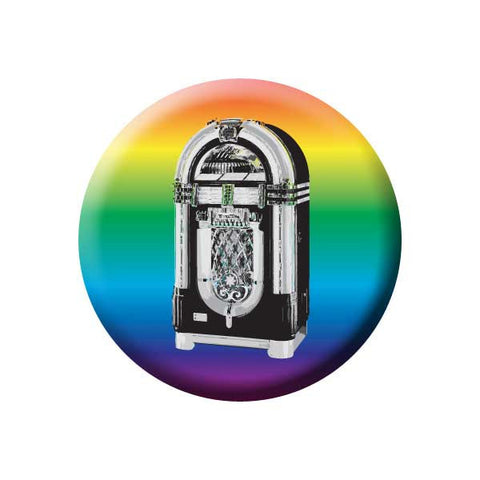 Jukebox, Rainbow Gradient, Retro, Music Record Store Buttons Collection from People Power Press