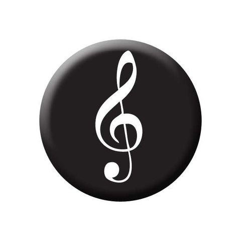 Treble Clef, Black, Music Record Store Buttons Collection from People Power Press