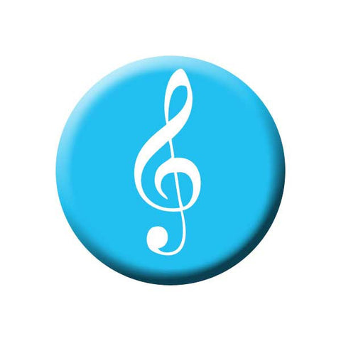 Treble Clef, Blue, Music Record Store Buttons Collection from People Power Press