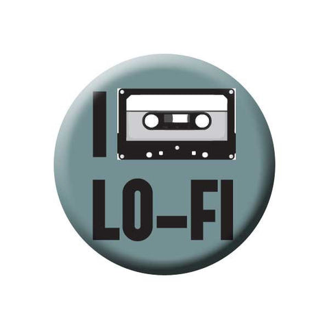 I Love Lo-Fi, Tape, Teal, Music Record Store Buttons Collection from People Power Press