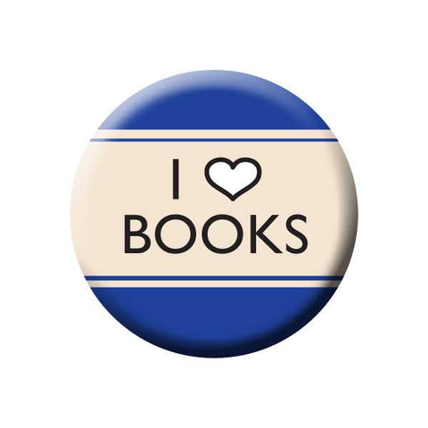 I Heart Books, I love Books, Blue, Reading Book Buttons Collection from People Power Press