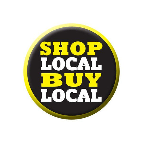 Shop Local Buy Local, Yellow, Shop Local Buttons Collection from People Power Press