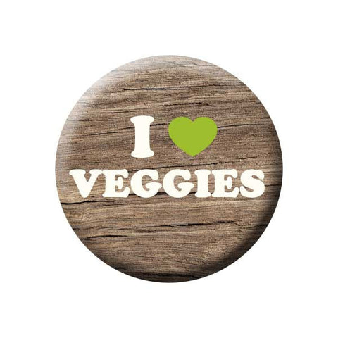 People Power Press Vegetarian and Vegan Button Collection I (Heart) Veggies