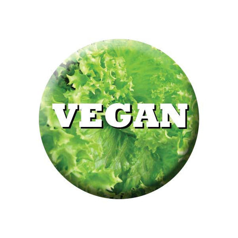 People Power Press Vegetarian and Vegan Button Vegan