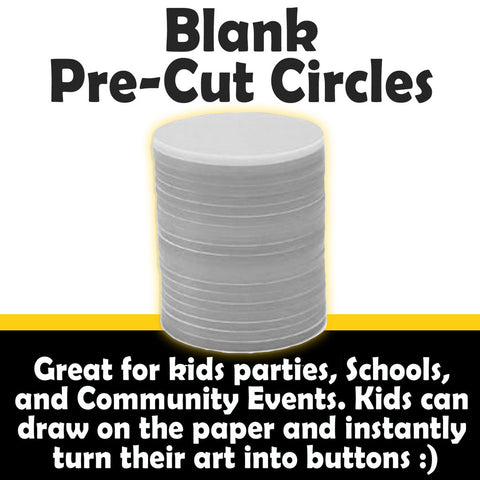 Blank Pre-Cut Paper Circles for Buttons
