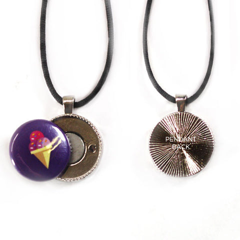 Seashell Button Pendant Necklace with technology by Artclix