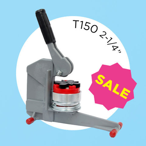 "2-1/4"" T150 Button Maker Kit - includes button machine and circle cutter"