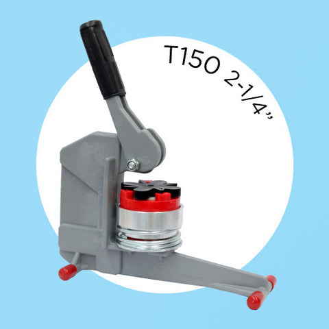 t150 2-1/4 inch button machine
