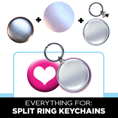 "complete 1-3/4"" split ring key chain parts"