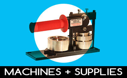 Button making machines and supplies