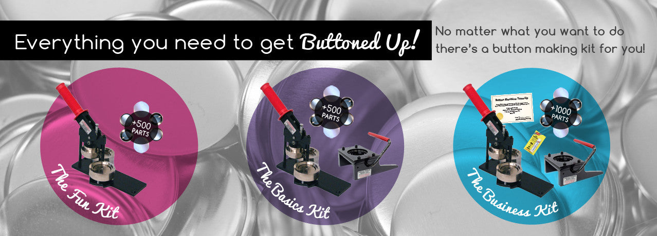 Get started making buttons with affordable star-up kits