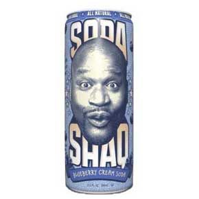 Arizona Soda Shaq 695ml Blueberry Cream