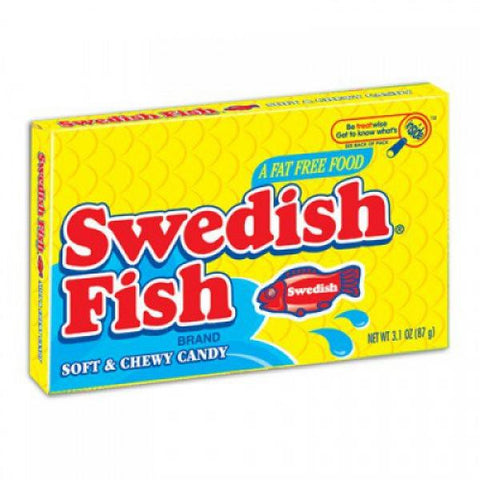 Swedish Fish Theatre Box 88g Red