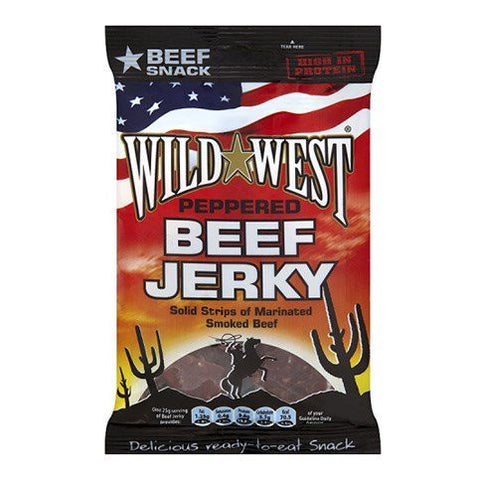 Wild West Beef Jerky Peppered 25g