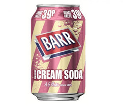 Barrs Cream Soda 330ml 39p