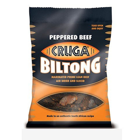 Cruga Beef Biltong 25g Peppered
