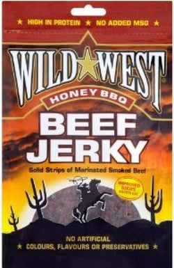 Wild West Beef Jerky Honey BBQ 25g