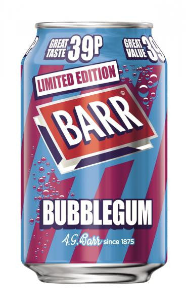 Barrs Bubblegum 330ml 39p