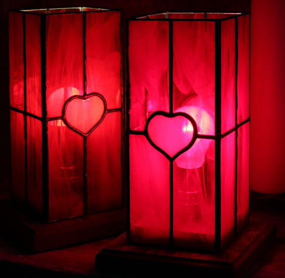 The Red Hearts Lamp