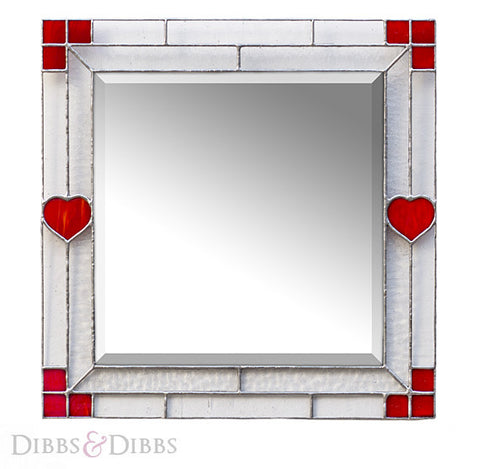 The Square Mirror - Hearts n Squares