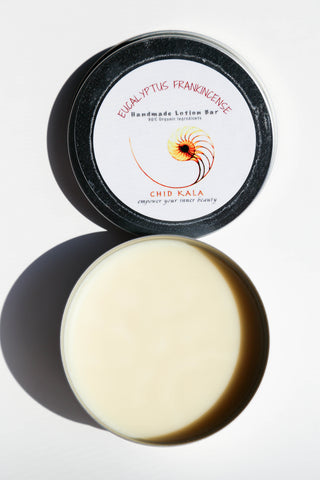 Solid Lotion bar Eucalyptus frankincense