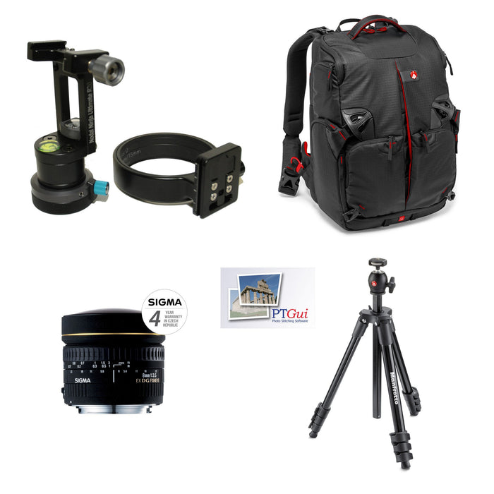 Google Street View Package: Nodal Ninja R20 GTP V2 Sigma 8mm Canon + Lens + Backpack + Tripod + PTGUI Panoramic Heads PanoSociety