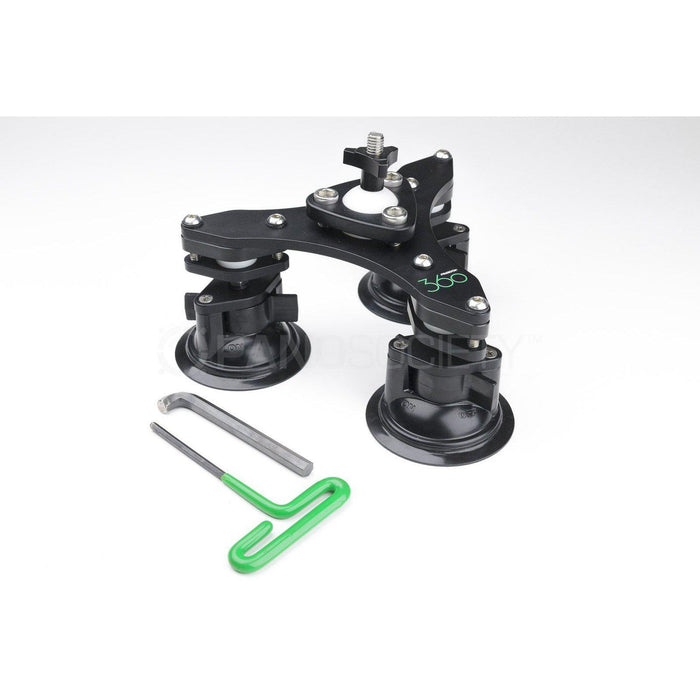 Freedom 360 Swivel Tri-base with Suction Cups-PanoSociety