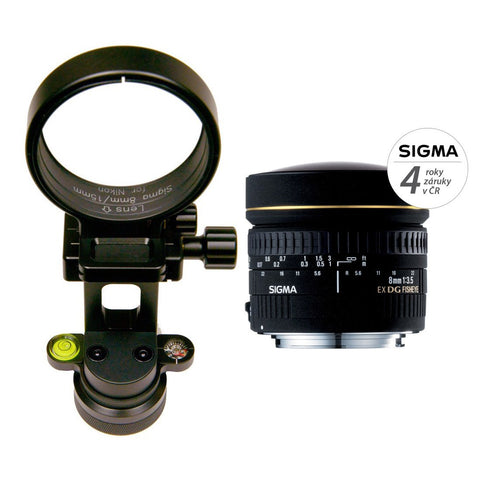 GTP - Lens Bundle: Google NODAL NINJA Ultimate R10 With Rotator Mini For Business View + Sigma 8mm Canon Lens